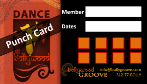 Bollywood Groove Cardio Punch Card