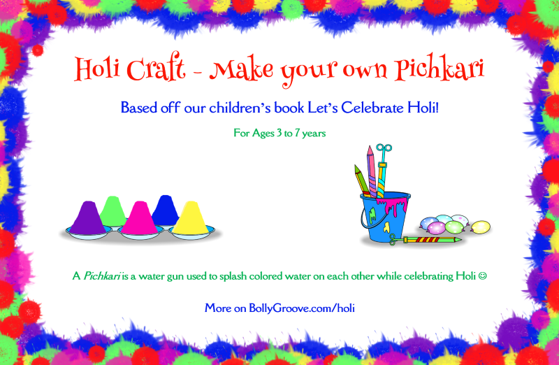 Holi Craft Make Your Own Pichkari Bollywood Groove